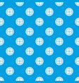white round window pattern seamless blue vector image vector image