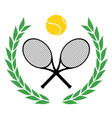 Winner tennis emblem vector image vector image