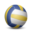Blue and yellow volleyball ball vector image