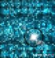 Abstract blue mosaic vector image
