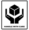 Handle with care sign isolated on white background vector image