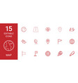 15 map icons vector image vector image