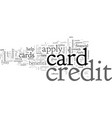 apply for a credit card today vector image vector image