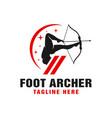 archer logo using feet vector image vector image