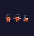 astronaut character set flat astronaut characters vector image vector image