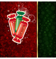 Background with Christmas decoration and vector image vector image