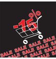 Big sale 15 percentage discount vector image vector image