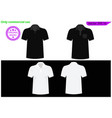 blank black t-shirt template vector image vector image