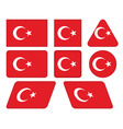buttons with flag of Turkey vector image vector image