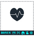 cardiogram icon flat vector image vector image