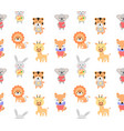 cartoon cute animals for baby seamless vector image