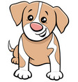 cartoon spotted puppy comic animal character vector image vector image