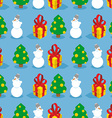 Christmas seamless pattern Symbols of winter vector image