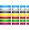 Color blank buttons vector image vector image