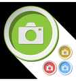 color icons with camera vector image