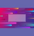 colorful background with frame and geometric vector image vector image