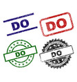 damaged textured do seal stamps vector image vector image