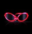 dark and abstract eyeglasses vector image vector image