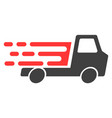 delivery car chassi with fast speed effect vector image