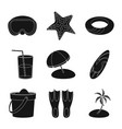 design of equipment and swimming symbol vector image vector image