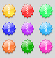 DNA icon sign symbol on nine wavy colourful vector image vector image