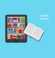e-book and paper book vector image vector image