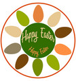 easter logo with colorful eggs in a circle vector image