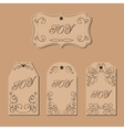 Elegant victorian swirl gift tag vector image