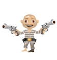 Escaped convict cartoon character of Wild West vector image