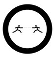 fencer stick icon black color simple image vector image vector image