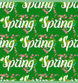floral spring seamless pattern background with vector image vector image