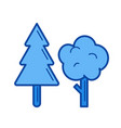 forest line icon vector image