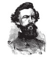 general robert patterson vintage vector image vector image