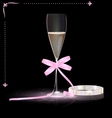 glamour champagne vector image vector image