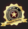 Golden Premium Quality Badge vector image vector image