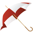 green umbrella represented on a white background vector image vector image