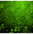 Green vivid floral pattern vector image
