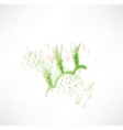 green wheat grunge icon vector image vector image