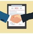 handshake - Memorandum Of Understanding vector image