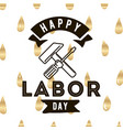 happy labor day emblems vector image vector image