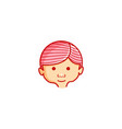 head children logo designs inspiration isolated vector image