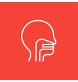 Human head with ear nose throat system line icon vector image vector image