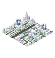 isometric area landscape vector image vector image