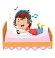 kid lying on bed vector image