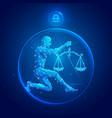 libra zodiac sign icons vector image vector image