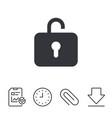 lock sign icon login symbol vector image
