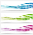 Modern abstract swoosh smooth vivid dotted line vector image vector image