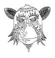 monkey hand drawing outline cartoon isolated vector image