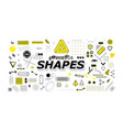 neo memphis geometric shapes collection vector image vector image