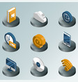 online library color isometric icons vector image vector image